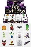 48 x Spooky Vampiro Di Halloween Zucca Pipistrelli Bambini Imitazione Trasferimenti Tatuaggi