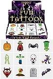 Henbrandt 48 x Spooky Halloween Vampire Pumpkin Bats Kids Pretend Transfers Tattoos