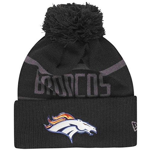 NewEra NFL Beanie Black ~ y Cuff Coll Denver Broncos Knit Bobble qZg1qw5