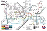 London Underground Map The Tube Subway Poster 36x24