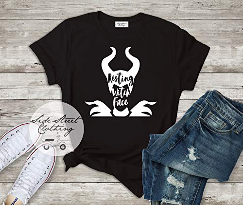 (Resting Witch Face T shirt - baby, toddler, youth, women, men, goth, gothic, halloween, disney, mom, sleeping beauty,)