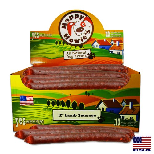Happy Howie's Lamb Sausage for Dogs - 12'' (36 Count Case) by Happy Howie's