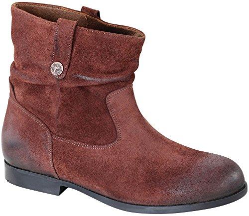Birkenstock Women's Sarnia Boot Espresso Waxed Suede Size