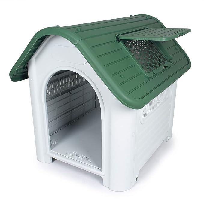 Pet S Solution caseta para Perros plástico para Exteriores PVC L 59 cm X P 75 cm X 66 cm de Altura: Amazon.es: Productos para mascotas