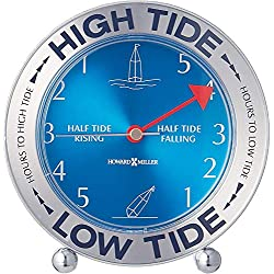 Howard Miller Tide Mate III Table Clock 645-527 - East Coast, High & Low Tide with Quartz Movement