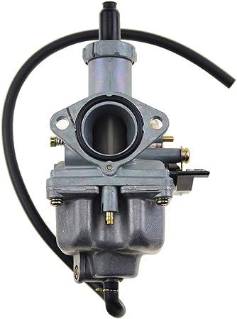 Goofit Vergaser 26 Mm Pz26 Replacement Für Motorrad 4 Takt 100 Cc 110 Cc 125 Cc Cg125 Xf125 Motor 156fm 157fm Mtb Quad Pit Scooter Silber Auto
