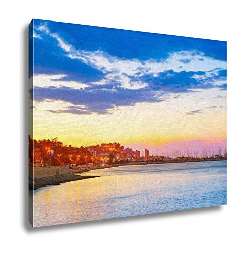 Ashley Canvas, Denia Sunset Las Rotas In Mediterranean Spain, Home Decoration Office, Ready to Hang, 20x25, AG6518797 by Ashley Canvas