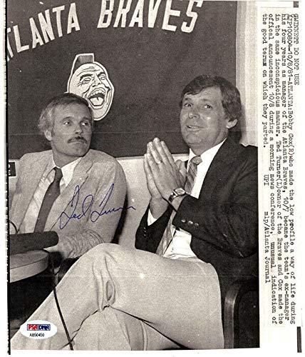 - Ted Turner Autographed Signed Memorabilia 8X9.5 Photo Atlanta Braves PSA/DNA #Ab50450