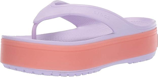 Crocs Crocband Platform Flip Flop, Lavender/Melon, 5 US Men/ 7 US Women M US