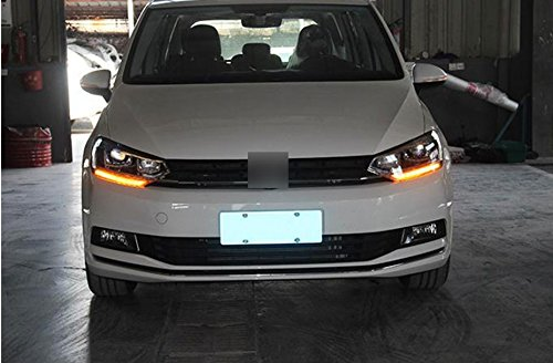 GOWE Car Styling For VW Touran headlights 2016 -For Touran head lamp led DRL front Bi-Xenon Lens Double Beam HID KIT Color Temperature:8000k;Wattage:55w 1