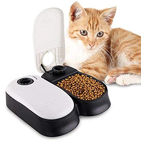 Amazon.com: HaveGet - Comedero automático para mascotas, 2 ...