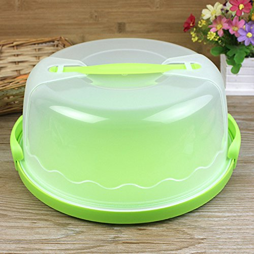 MeterMall Arts for Plastic Cake Keeper Cake Caddy//Holder//Container//Carrier Suitable for 10in Cake or Less