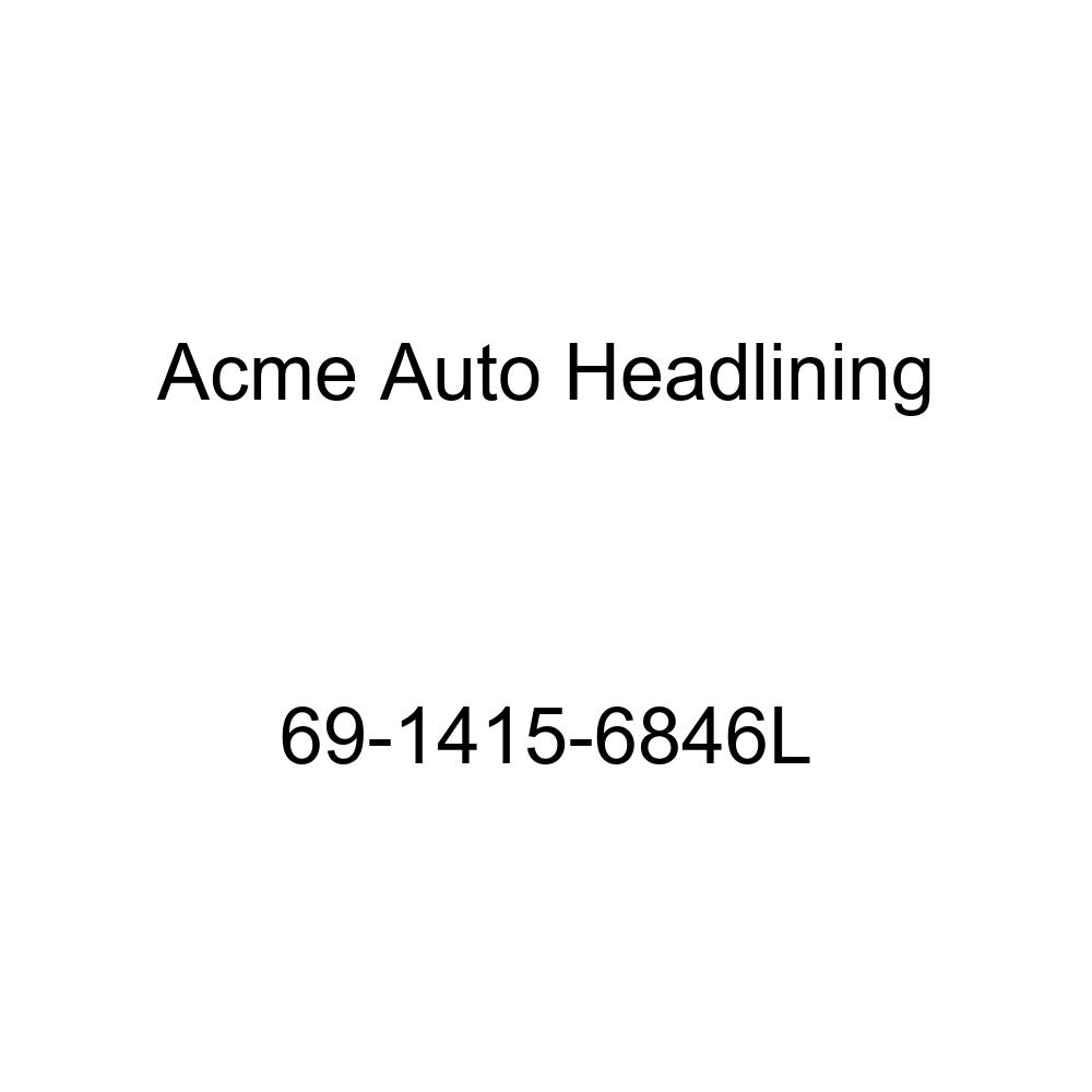 Acme Auto Headlining 69-1415-6846L Green//Gold Replacement Headliner 5 Bow 1969 Chevrolet Impala 4 Door Hardtop