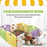 Baby Playpen Kids Activity Centre Safety Play Yard Home Indoor Outdoor New Pen (multicolour, Pudding set 8 panel)