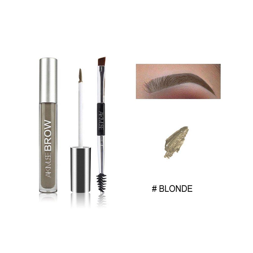 Waterproof Eyebrow Pen, WeChip Semi Permanent Eyebrow Gel Fast Dry Waterproof Anti-sweat Long Lasting Double-ended Pen Eye Makeup (# Black-Brown) Other
