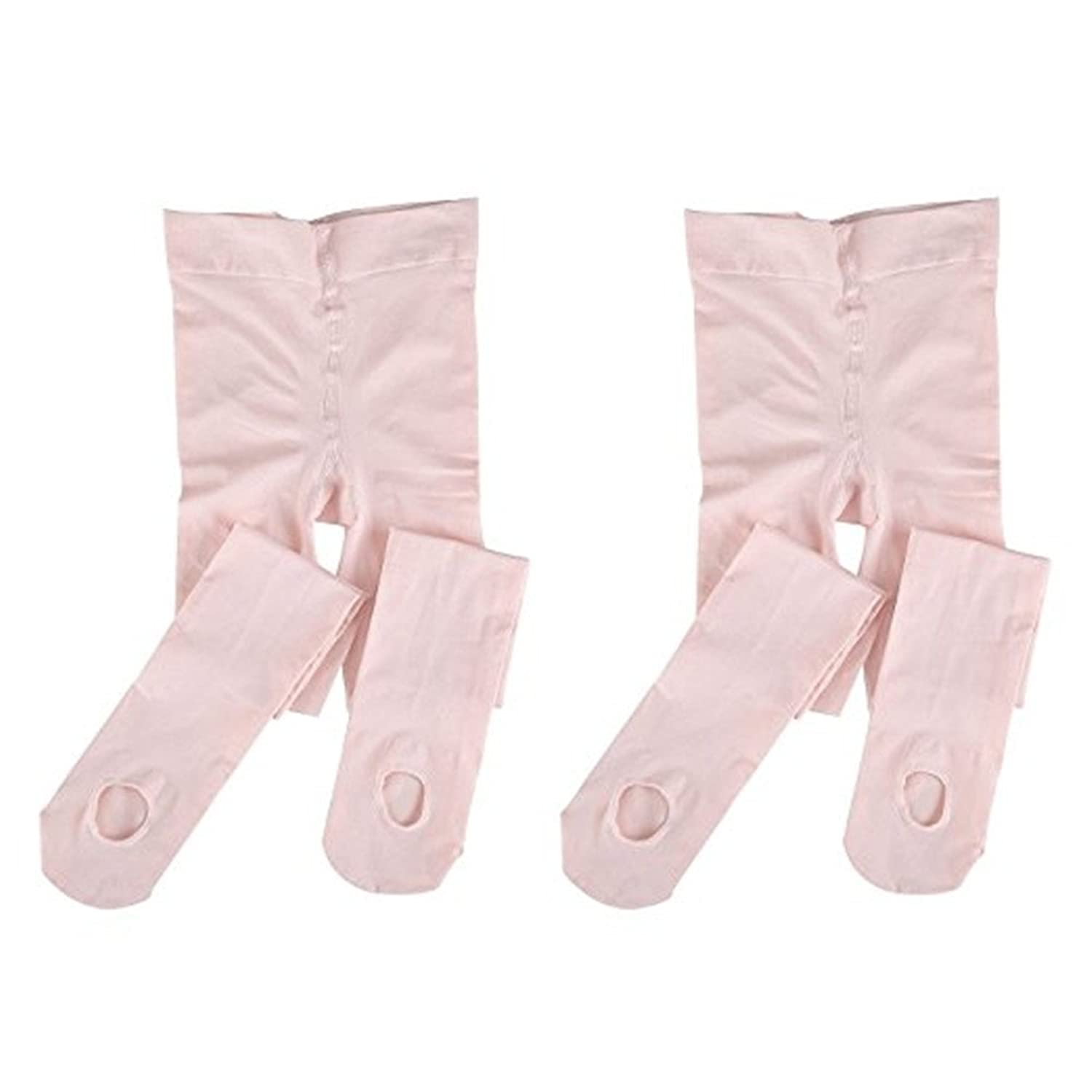 2 Pairs Girls Soft Ballet Dance Tights with Stretch for Women