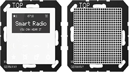 Jung RADA518WW - Placa radio con display kit monofasico blanco alpino RAD A 518 WW