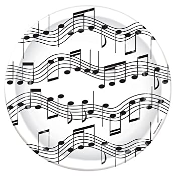 Music Notes Paper Plates