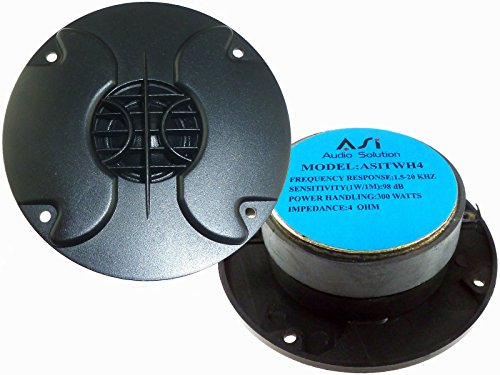 3.75'' SOFT DOME TWEETER PAIR 1'' 300W DJ CAR HOME STEREO REPLACEMENT NEW WH4 by ASI Audio Solutions