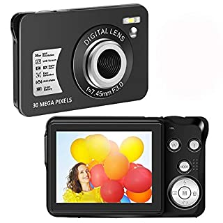 Digital Camera HD 1080P Vlogging Camera 30 MP Mini Camera 2.7 Inch LCD Screen Camera with 8X Digital Zoom Compact Cameras for Adult, Kids, Beginners (1)…