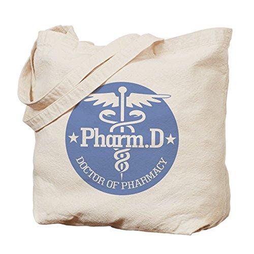 CafePress Pharm–Caduceus. D–Gamuza de bolsa de lona bolsa, bolsa de la compra