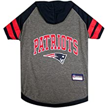Pets First New England Patriots Hoodie T-Shirt, Large