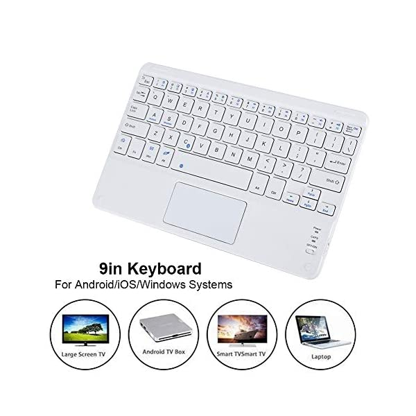 ASHATA Bluetooth Touchpad Keyboard,Portable Wireless Keyboard with Touchpad,9in Scissors Feet Design Ultra Slim…