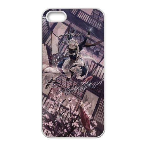V7D15 sakuya Izayoi Touhou Project X5I9NQ coque iPhone 5 5s cellulaire cas de téléphone couvercle coque blanche KR4IPF3IX