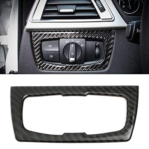 Kavas - Carbon Fiber Dashboard For BMW 3 Series GT /4 Series F30 32 33 80 83 Headlight Switch Trim Interior Upgrades with Tape Black