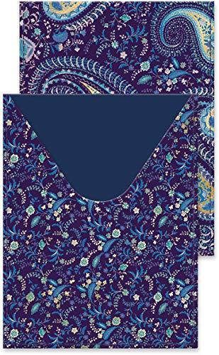 (Punch Studio Passport Cover, Blue Paisley (43890))