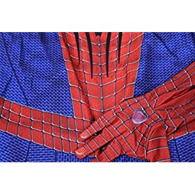 - 51CGIJNpG1L - OEM Spider Man Costume Screen Accurate Dye Sublimation Spiderman Faceshell Lens