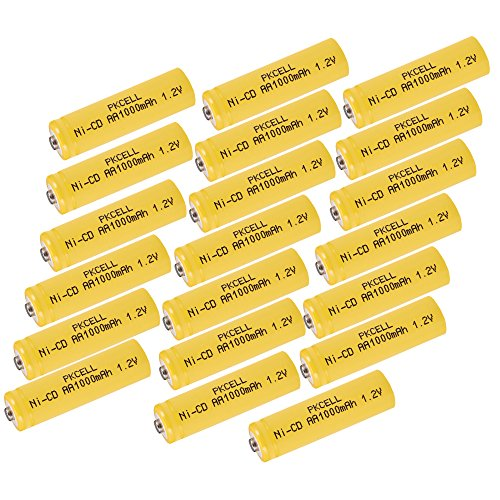 Rechargeable NICD AA 1000mAh Battery For Solar Light Lawn Lamp 20pcs