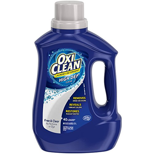 OxiClean HD Laundry Detergent Free & Clear 60 oz - 40 loads. No perfume or Dye.