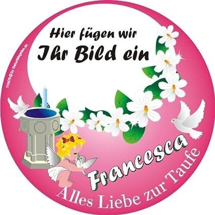 Pers Tortenauflage Taufe Girl Foto Name Tauftorten Aufleger Mädchen Tortendeko