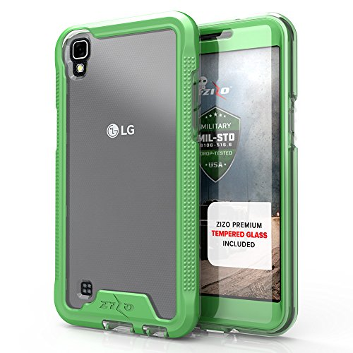 LG X Power Case, Zizo [ION Series] with FREE [LG X Power Screen Protector] Transparent Clear [Military Grade Drop Tested] for LG X Power K210 (2016)