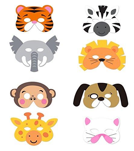 8 Assorted Animal Foam Masks - 4
