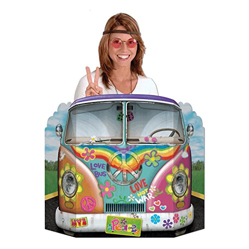 Hippie Bus Photo Prop Party Accessory (1 count) (1/Pkg) (60s Themed Party)