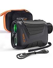TACKLIFE Entfernungsmesser MLR01 Golf Rangefinder Jagd Lasermessgerät mit 7 Facher Vergrößerung und Aufladbarer Batterie, IP54 Wasserdicht, Abstandsmessung 3~800m, Geschwindigkeitsmessung 5~300km/h