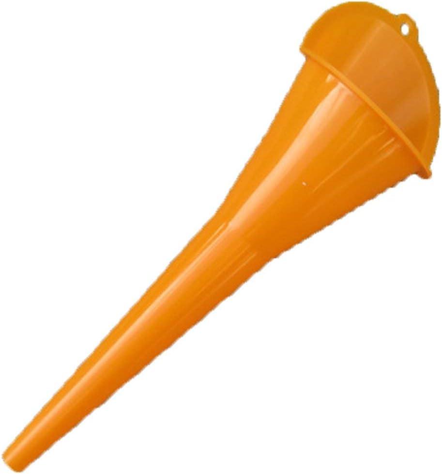 Orange Dailyinshop Voiture de ravitaillement Long Entonnoir Huile additif Moto Ferme Machine Entonnoir Voiture de ravitaillement Plus Long Entonnoir Moteur /à Essence