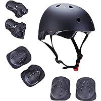 U-HOOME Kids Bike Helmet, Toddler Helmet for Ages 3-8 Boys Girls with Sports Protective Gear Set Knee Elbow Wrist Pads…