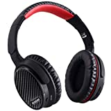 Over Ear Noise Cancelling Headphones, AUSDOM ANC 7 Active Noise Cancelling Over Ear Headphones with Inline Mic, Wireless Bluetooth apt-X HiFi Balanced Stereo Headsets Comfortable Foldable Earpads with Carring Case for Travel, iPhone, Samsung, PC, Smart TV (Black)