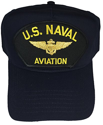 U.S. NAVAL AVIATION W/ PILOT WINGS HAT - NAVY BLUE - Veteran Owned Business