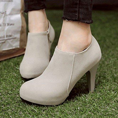 Boots Gray 1 Coolcept Zipper Women SfxwnB1q
