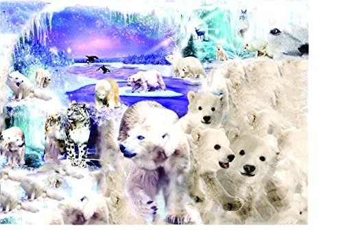 Polar World 1000 Piece Shaped Jigsaw Puzzle by SunsOut