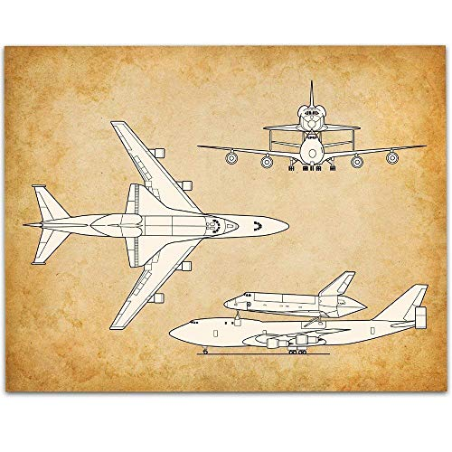 Space Shuttle Carrier Aircraft - 11x14 Unframed Art Print - Great Room Decor or Gift Under $15 for Pilots and Space Shuttle Fans ()