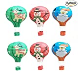 Kubert Party Hanging 12 inches Hot Air Balloon Paper Lanterns Christmas Accessories Birthday Party Wedding Decoration Rainbow Set Christmas Birthday Wedding Halloween Party Decoration