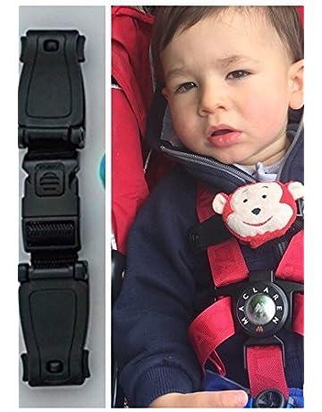 Correa para cinturón y arnés de seguridad de silla de bebé, con cierre de clip