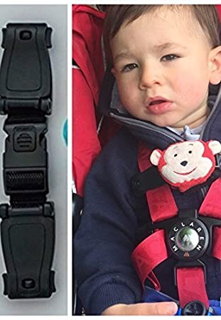 CAR SEAT Buggy Safety Strap Chest Clip Anti Escape System Stops ARMS Escaping Harness
