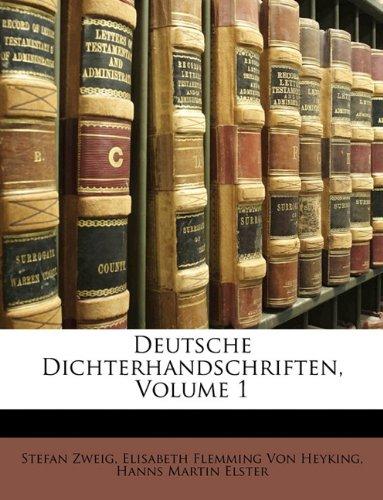 Download Deutsche Dichterhandschriften, Volume 1 (German Edition) pdf epub