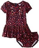 Hartstrings Baby Girls Heart Print Knit Dress and Panty Set, Animal Print, 18 Months